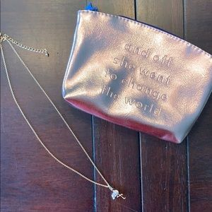 Kate Spade Necklace and Ipsy bag